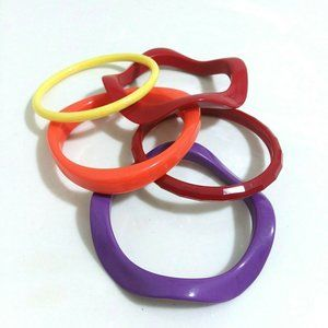 Multicolored Abstract Bracelet Bundle Lot Of 5